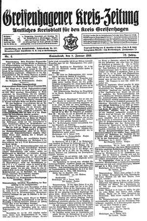 Greifenhagener Kreiszeitung vom 08.01.1916