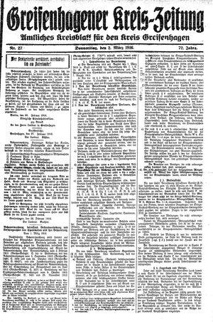 Greifenhagener Kreiszeitung vom 02.03.1916