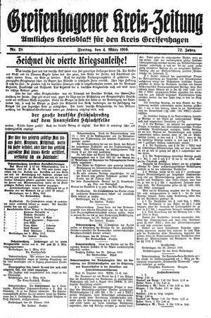 Greifenhagener Kreiszeitung vom 04.03.1916