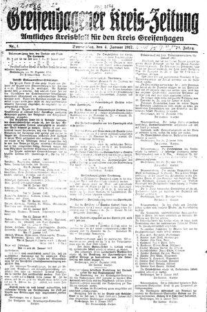 Greifenhagener Kreiszeitung vom 04.01.1917