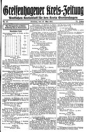 Greifenhagener Kreiszeitung vom 10.05.1917