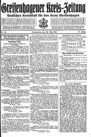 Greifenhagener Kreiszeitung vom 24.05.1917