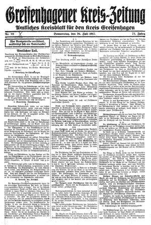 Greifenhagener Kreiszeitung vom 26.07.1917