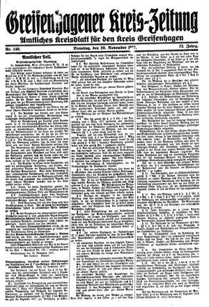 Greifenhagener Kreiszeitung vom 20.11.1917