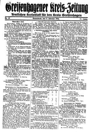 Greifenhagener Kreiszeitung vom 08.02.1919