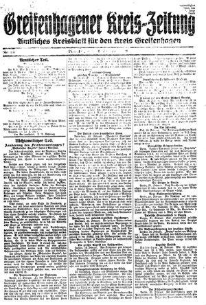 Greifenhagener Kreiszeitung vom 24.02.1920