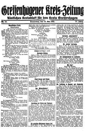 Greifenhagener Kreiszeitung vom 19.05.1921