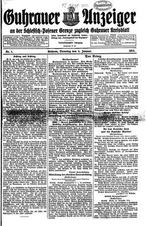 Guhrauer Anzeiger an der Schlesisch-Posener Grenze vom 05.01.1915