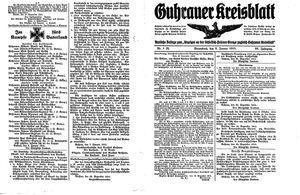 Guhrauer Anzeiger an der Schlesisch-Posener Grenze on Jan 9, 1915