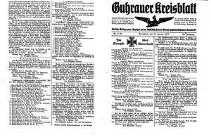Guhrauer Anzeiger an der Schlesisch-Posener Grenze vom 16.01.1915