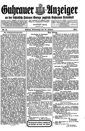 Guhrauer Anzeiger an der Schlesisch-Posener Grenze vom 28.01.1915
