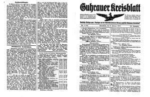 Guhrauer Anzeiger an der Schlesisch-Posener Grenze vom 06.02.1915