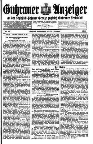 Guhrauer Anzeiger an der Schlesisch-Posener Grenze vom 13.02.1915