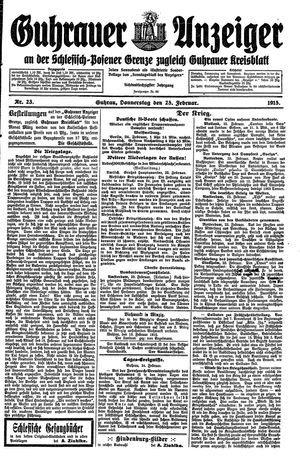 Guhrauer Anzeiger an der Schlesisch-Posener Grenze vom 25.02.1915