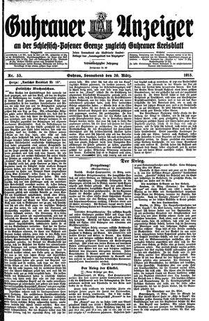 Guhrauer Anzeiger an der Schlesisch-Posener Grenze vom 20.03.1915