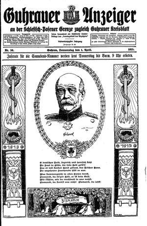 Guhrauer Anzeiger an der Schlesisch-Posener Grenze vom 01.04.1915