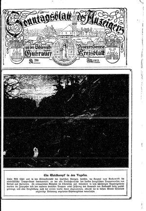 Guhrauer Anzeiger an der Schlesisch-Posener Grenze vom 24.04.1915