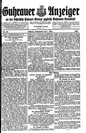 Guhrauer Anzeiger an der Schlesisch-Posener Grenze vom 01.05.1915