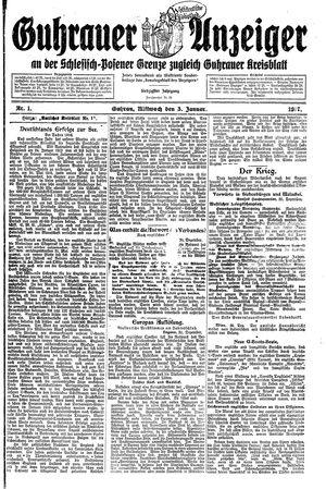 Guhrauer Anzeiger an der Schlesisch-Posener Grenze vom 03.01.1917