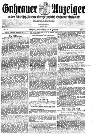 Guhrauer Anzeiger an der Schlesisch-Posener Grenze vom 04.01.1917