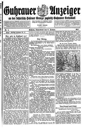 Guhrauer Anzeiger an der Schlesisch-Posener Grenze vom 06.01.1917