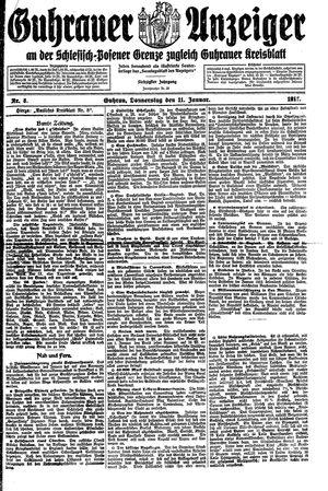 Guhrauer Anzeiger an der Schlesisch-Posener Grenze vom 11.01.1917