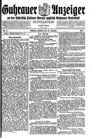 Guhrauer Anzeiger an der Schlesisch-Posener Grenze vom 12.01.1917