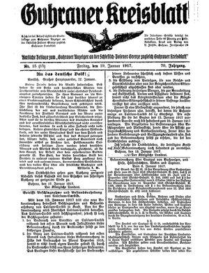 Guhrauer Anzeiger an der Schlesisch-Posener Grenze vom 19.01.1917