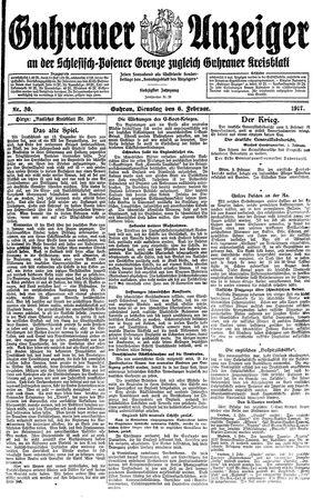 Guhrauer Anzeiger an der Schlesisch-Posener Grenze vom 06.02.1917