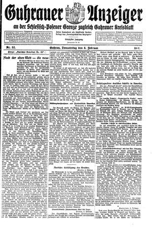 Guhrauer Anzeiger an der Schlesisch-Posener Grenze vom 08.02.1917