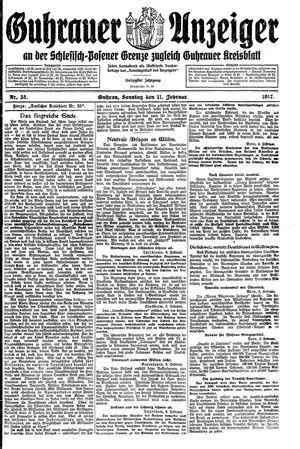 Guhrauer Anzeiger an der Schlesisch-Posener Grenze vom 11.02.1917