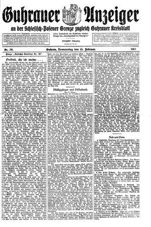 Guhrauer Anzeiger an der Schlesisch-Posener Grenze vom 15.02.1917