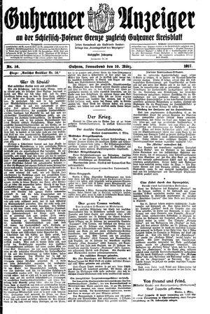 Guhrauer Anzeiger an der Schlesisch-Posener Grenze vom 10.03.1917