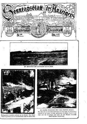Guhrauer Anzeiger an der Schlesisch-Posener Grenze vom 11.03.1917