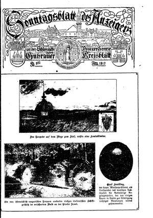 Guhrauer Anzeiger an der Schlesisch-Posener Grenze vom 18.03.1917