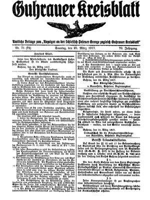 Guhrauer Anzeiger an der Schlesisch-Posener Grenze vom 25.03.1917
