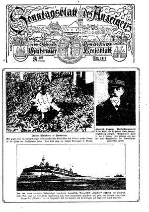 Guhrauer Anzeiger an der Schlesisch-Posener Grenze on Apr 1, 1917