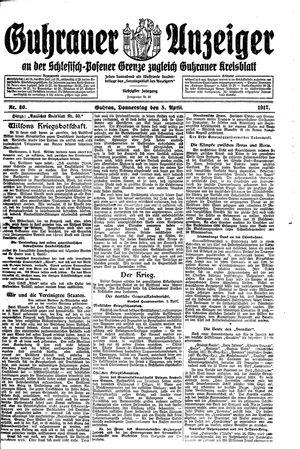 Guhrauer Anzeiger an der Schlesisch-Posener Grenze vom 05.04.1917
