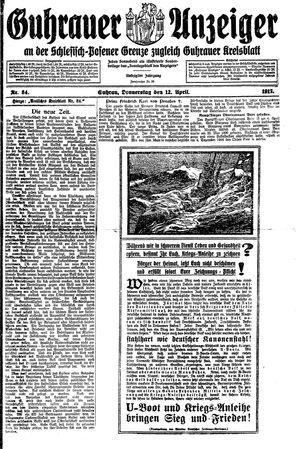 Guhrauer Anzeiger an der Schlesisch-Posener Grenze on Apr 12, 1917