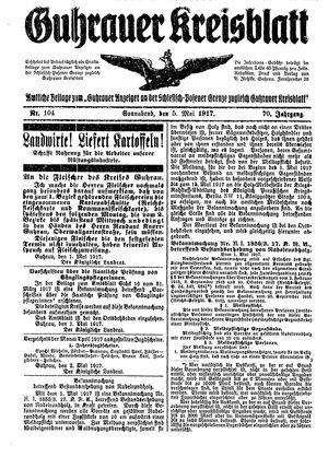 Guhrauer Anzeiger an der Schlesisch-Posener Grenze vom 05.05.1917