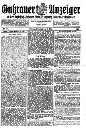 Guhrauer Anzeiger an der Schlesisch-Posener Grenze vom 08.05.1917