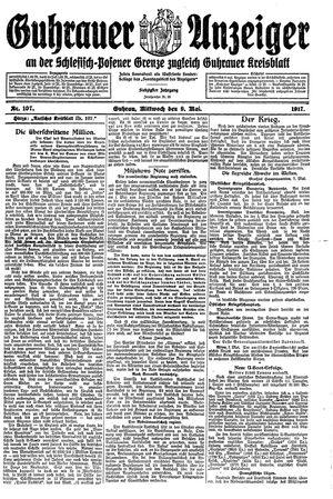 Guhrauer Anzeiger an der Schlesisch-Posener Grenze vom 09.05.1917