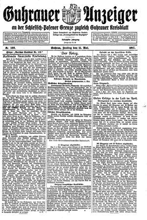 Guhrauer Anzeiger an der Schlesisch-Posener Grenze vom 11.05.1917