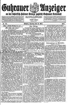 Guhrauer Anzeiger an der Schlesisch-Posener Grenze vom 13.05.1917