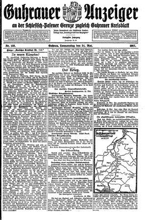 Guhrauer Anzeiger an der Schlesisch-Posener Grenze vom 24.05.1917