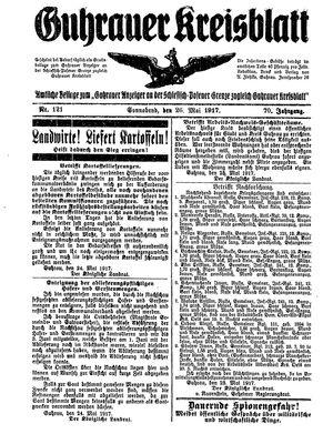 Guhrauer Anzeiger an der Schlesisch-Posener Grenze vom 26.05.1917