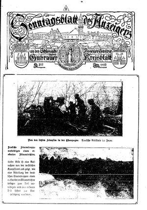 Guhrauer Anzeiger an der Schlesisch-Posener Grenze vom 27.05.1917
