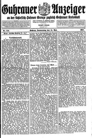 Guhrauer Anzeiger an der Schlesisch-Posener Grenze vom 31.05.1917