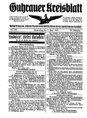 Guhrauer Anzeiger an der Schlesisch-Posener Grenze on Jun 7, 1917
