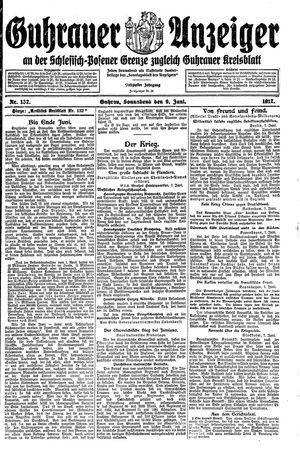 Guhrauer Anzeiger an der Schlesisch-Posener Grenze vom 09.06.1917